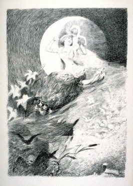 The Moon, life and death, from Le Chat Noir