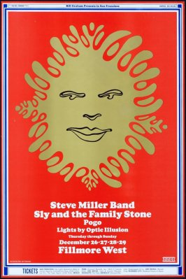 Steve Miller Band, Sly & the Family Stone, Pogo, December 26 - 29, Fillmore West