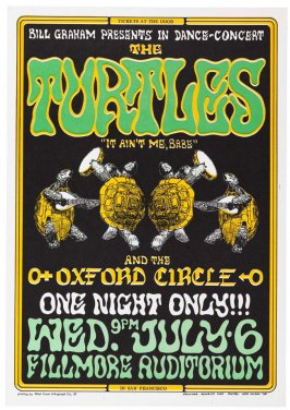 Turtles, Oxford Circle, July 6, Fillmore Auditorium