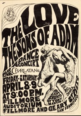 """Dirty Old Man,"" Love, Sons of Adam, Charlatans, April 8 & 9, Fillmore Auditorium"