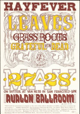 """Hayfever,"" Leaves, Grass Roots, Grateful Dead, May 27 & 28, Avalon Ballroom"