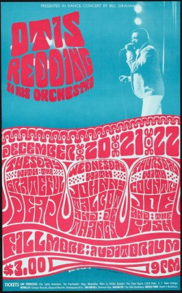 Otis Redding & His Orchestra, Grateful Dead, Johnny Talbot & de Thangs, Country Joe & the Fish, December 20 - 22, Fillmore Auditorium