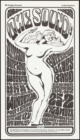 Jefferson Airplane, Butterfield Blues Band, Muddy Waters, September 23, 24, 30 & October 1, Winterland, September 25 & October 2, Fillmore Auditorium
