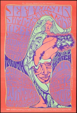 Jefferson Airplane, Jimmy Reed, John Lee Hooker, Stu Gardner Trio, March 10 & 11, Winterland, March 12, Fillmore Auditorium