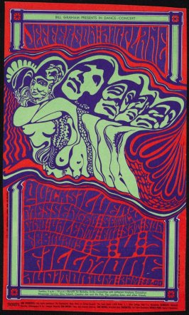 Jefferson Airplane, Quicksilver Messenger Service, Dino Valenti, February 3 - 5, Fillmore Auditorium
