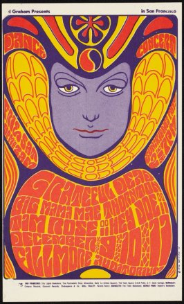 Grateful Dead, Big Mama Mae Thornton, Tim Rose, December 9 - 11, Fillmore Auditorium