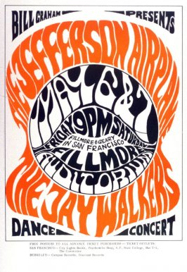 Jefferson Airplane, Jay Walkers, May 6 & 7, Fillmore Auditorium
