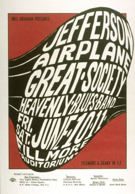 Jefferson Airplane, Great Society, Heavenly Blues Band, June 10 & 11, Fillmore Auditorium