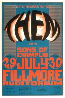Them, Sons of Champlin, July 29 & 30, Fillmore Auditorium