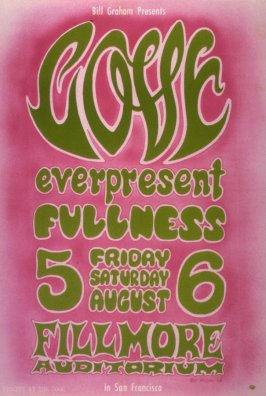 Love, Everpresent Fullness, August 5 & 6, Fillmore Auditorium