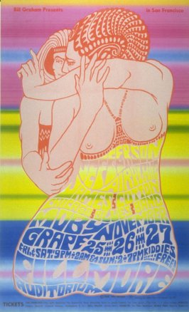 Jefferson Airplane, James Cotton Chicago Blues Band, Moby Grape, November 25 - 27, Fillmore Auditorium