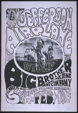 """""""Tribal Stomp,"""" Jefferson Airplane,  Big Brother and the Holding Company, February 19,  Fillmore Auditorium"""