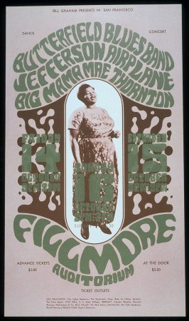 Butterfield Blues Band, Jefferson Airplane, Big Mama Thornton, October 14 - 16, Fillmore Auditorium
