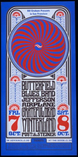 Butterfield Blues Band, Jefferson Airplane, Grateful Dead, October 7 & 8, Winterland