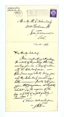 Letter to Mr. and Mrs. Achenbach