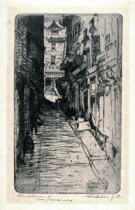 Dark Alley (titled in pencil: Chinatown, San Francisco)
