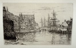Weymouth Harbour, plate 22 in the book, The Etcher (London: Sampson Low…, 1880), vol. 2 [bound in same volume as vol. 1, 1879]
