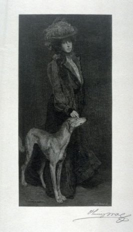 A Portrait  (Lady and Dog)