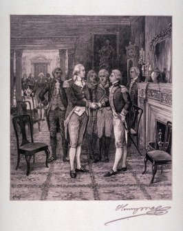 First meeting between General Washington and Lafayette