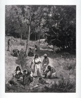 Indians gathering Nuts