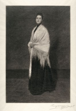 Woman with a White Shawl
