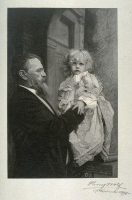 Franz von Lenbach and his daughter