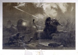 A Night Attack. From Illustrated London News. 4 July 1872
