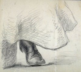Sketchbook; woman's boot