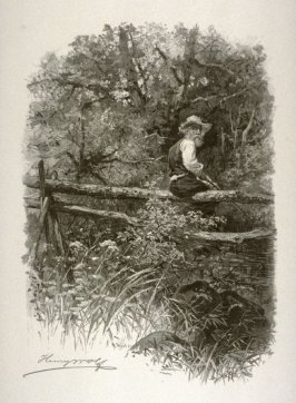 Fisherman at a quiet woodland pool
