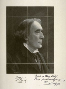Portrait of Henry Irving (proof from cancelled block)