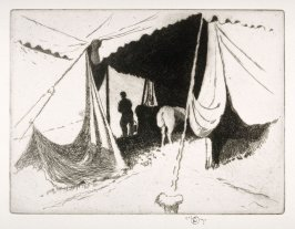 A tent in landscape