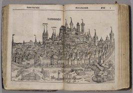 View of Nuremberg from the South, from The Nuremberg Chronicle (Liber chronicarum) ([Nuremberg: Anton Koberger, 1493])