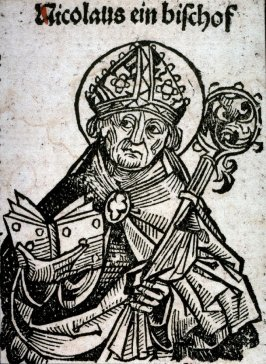Saint Nicholas, from the Nuremberg Chronicle
