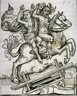 Devil and Woman on Horseback, from the Nuremberg Chronicle