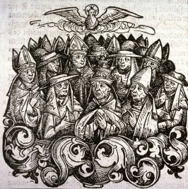 [Archbishop and bishops], from the Nuremberg Chronicle