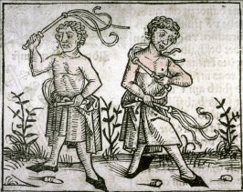 Scene of Self-Flagellation, from the Nuremberg Chronicle