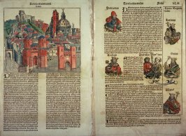 View of Venice / View of Padua, from Hartmann Schedel, Nuremberg Chronicle (Liber chronicarum) (Nuremberg: Anton Koberger, 1493)