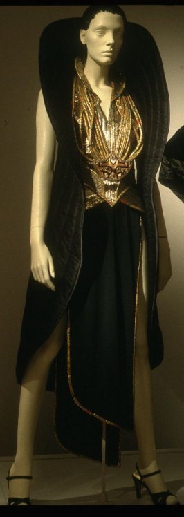 """Coat from """"The Circle"""": evening ensemble"""