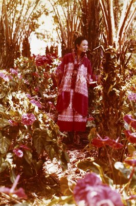Photograph: Merle Bulatao in Red Guatemalan Cotton Pantdress
