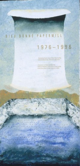 20th Anniversary Limited Edition poster for Dieu Donne Papermill Inc. (1976-1996)