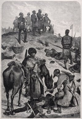 After an Assault on the Redoubt at Plevna - p.928 from Harper's Weekly 24 November 1877