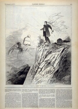 A Short Road to Wealth - A Cartoon for the Hour - from Harper's Weekly,  (November 3, 1877), p. 869