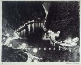 One of Nine scenes of construction at Boulder Dam