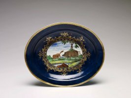 Fox and Boar Oval Dish
