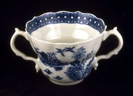Two-handled chocolate cup