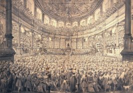 The Installation of the Earl of Westmoreland in the Theater at Oxford