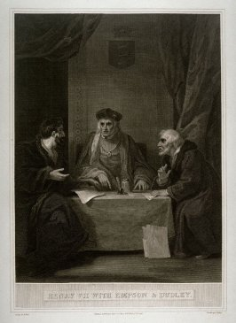 Henry VII with Empson and Dudley