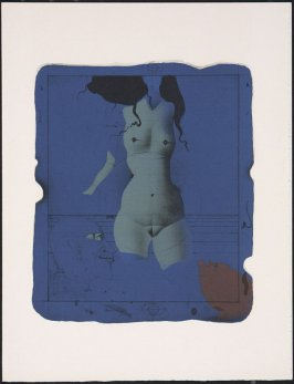 """Torso su une pierre bleue"" by Paul Wunderlich, pg. 203, in the book Souvenirs et portraits d'artistes (Reminiscences and Portraits of Artists) by Fernand Mourlot (Paris: Alain c. Mazo, 1972 and in New York: Léon Amiel, 1972)."