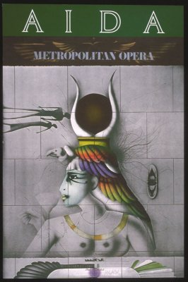 Aida, first of a portfolio of eight Metropolitan Opera Fine Arts Posters