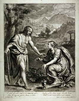 Mary Magdalene assuming Christ to be a gardener